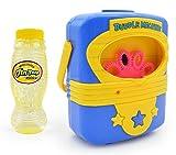 toys bhoomi portable super fun electric automatic bubble blowing machine with 118ml refill - non toxic- Multi color