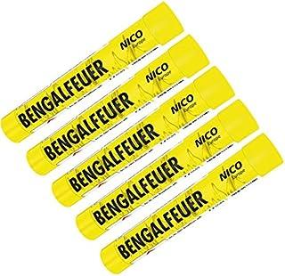 5 Stück Bengalfeuer gelb Nico Feuerwerk Bengalos
