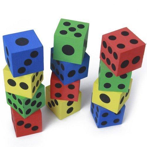 SODIAL(R) 12Pcs Mousse des jouant- couleurs aleatoires