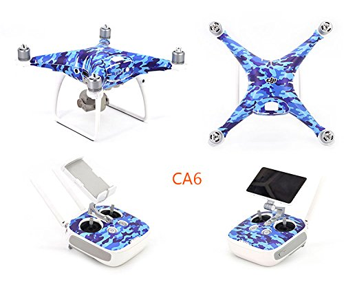 OK-STORE Exclusive Decoration Wrap Skin Decal Kit for Phantom 4 Pro Quadcopter Drone Body Shell, DJI Phantom 4 PRO Portable Collapsible Mini Racing Drone Water-resistant PVC Sticker