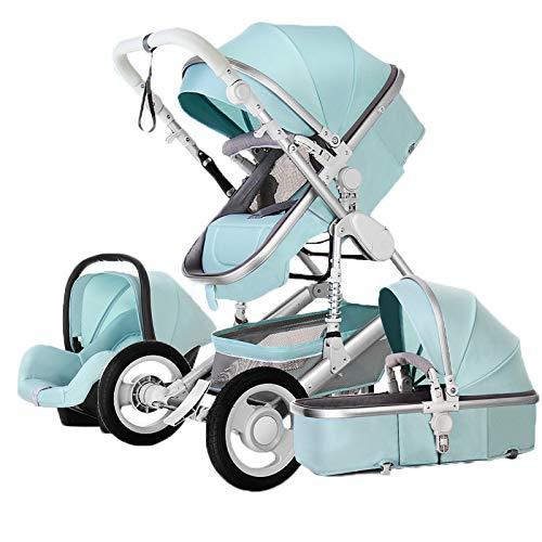 Kinderwagen - Baby Buggy All Terrain, Traveller, 3-in-1 reissysteem, babybadkuip buggy auto-babyschaal - aluminium frame/volledig rubberen banden - regenbescherming - vanaf geboorte tot 25 kg (ca. 4 jaar).