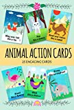 Animal Action Cards. 25 Engaging Cards. Card Game for Toddlers. Active Toddler Game.