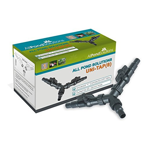 Uni Robinet 3 voies Distributeur Y tuyau pour étang tuyauterie adaptateur connecteur Arrêt Compatible avec 20/25/32/38 mm Tuyau