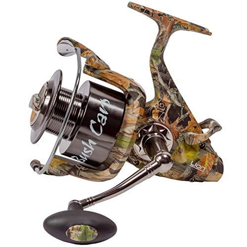 LION Sports BCS Camou Carp FS 7000 Freilauf Karpfenrolle - Karpfen Weitwurfrolle Freilaufrolle Angelrolle - 0,30mm / 315m