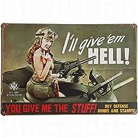 あなたは私に、私は地獄レトロヴィンテージ装飾金属錫記号インチ