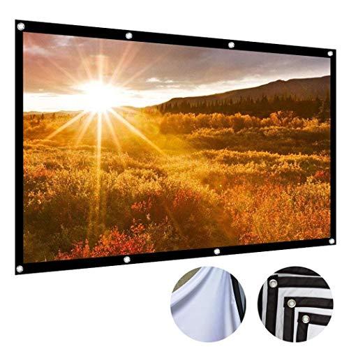 Fandazzie Neu No Creases Schwarz-seitiges faltbares HD-Filmprojektor-Bildschirm-Hintergrundtuch Fernseher & Heimkino