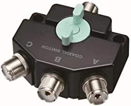 Fumei CO301M Heavy Duty Wideband Three-Position Coax Switch DC-800MHz Antenna Switch with SO-239 Connectors