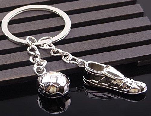 Sportigo® Voetbalsleutelhanger / Voetbalschoen met Bal / Voetballer Cadeau / Fan Gift