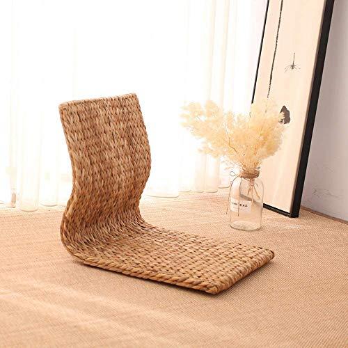 LXH-SH Divano Pigro Pigro Divano Erba Tessuto Tatami Chair Casa Pigro Camera Sedile Bovindo No Leg Cuscino può sopportare 300 kg mwsoz (Colore: A, Dimensioni: 38x46x41cm) .Divano Letto Pigro.