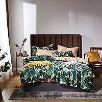 ヘルスパーソナルケア4ピースベッドセットシノワズリースタイル鳥の葉プリントエジプト綿ソフト羽毛布団カバーベッドシーツシーツセットキングクイーンサイズ寝具セット3クイーンサイズ4pcs