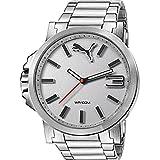 Puma Ultrasize Metal - Reloj análogico de cuarzo con correa de acero inoxidable para hombre, color plata/plata