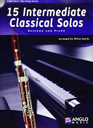 15 Intermediate Classical Solos, für Fagott u. Klavier, m. Audio-CD
