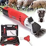 CFLDSG Tijeras de ovejas eléctricas de 500 vatios, cortadoras de cabra para mascotas pesados, herramienta de afeitado de animales de granja con 13 cuchillas de corte de dientes rectas 6 velocidad ajus