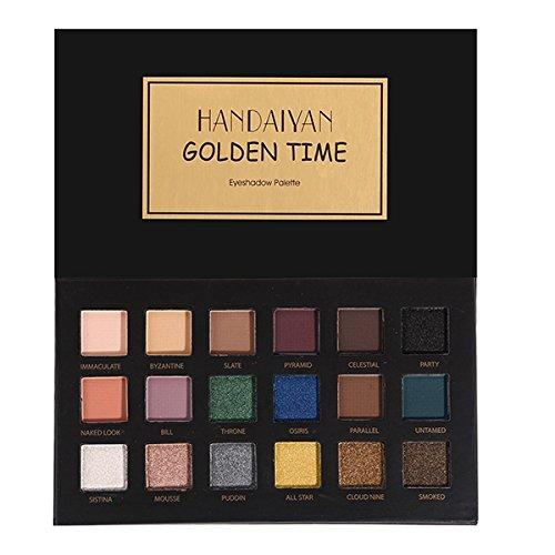 Bluelover Handaiyan 18 Couleurs Oeil Ombre Palette Matte Miroitement Poudre Terre Fumée Yeux Maquillage - 01