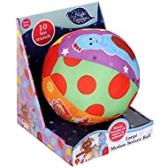 INTERACTIVE MUSICAL LEARNING TOY: throw, bounce or roll to activate 10 sounds/phrases for tactile development STIMULATES SENSES: plush baby ball with bright colours, shapes and sounds; great learning resources MADE FOR TINY HANDS: squishy stuffed bal...