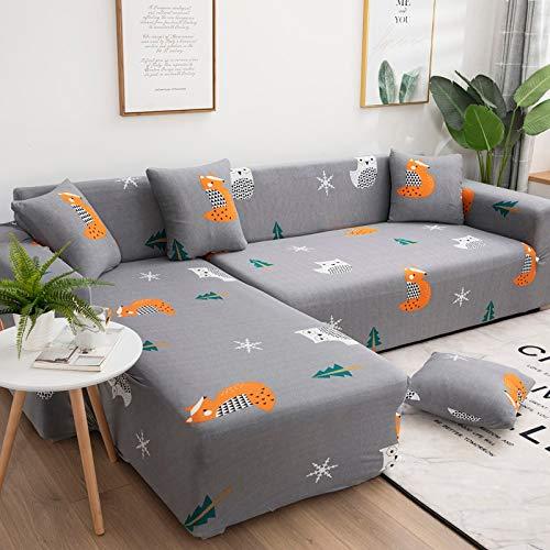 WXQY Funda de sofá elástica geométrica Simple combinación Todo Incluido Funda de sofá Antideslizante en Forma de L Funda de sofá de Esquina A11 1 Plaza