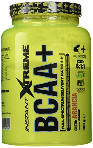 4+ Nutrition IAF00077805 Instant Xtreme BCAA+, 300 g, Arancia