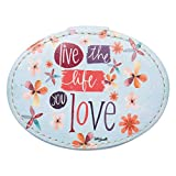 Brownlow Gifts Simple Inspirations Small Oval Jewelry Box, 4.75 x 3.5-Inch, Live The Life You Love