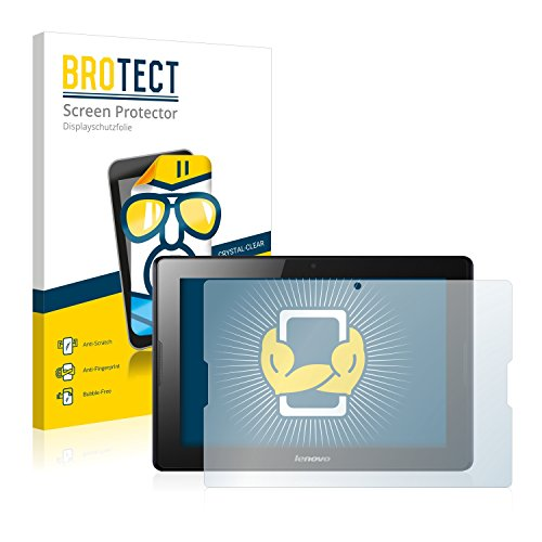 BROTECT Schutzfolie kompatibel mit Lenovo IdeaTab A10-70 A7600 (2 Stück) klare Bildschirmschutz-Folie