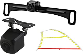 GreenYi-59 2in1 960x720 Car License Plate Trajectory Backup Camera with Dynamic Moving Guide Line, Waterproof Night Vision...