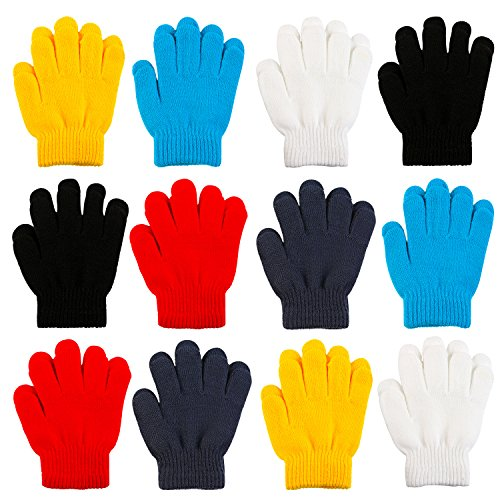 Cooraby 12 Pairs Kid's Winter Magic Gloves Children Stretchy Warm...