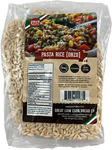 Great Low Carb Bread Co. Pasta Rice Ozro | Keto Pasta, Rice Noodles, Low Carb Pasta 8 Ounce
