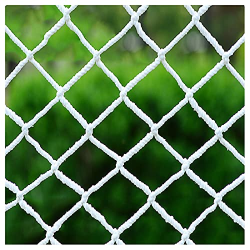 Balcony netting for pets Cargo Safety Net Rope Net White Net Rope Thickness 6MM Aperture 6CM Climbing Net Used To Protect Children's Safety Of Rock Climbing Amuseme(Size:4*6m(13.1*19.6ft),Color:White)