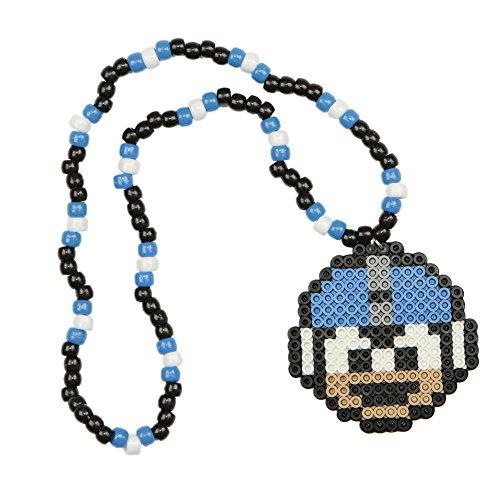 Collar Kandi de Megaman, collar rave, collar con cuentas, collar para disfraz de halloween y para festivales musicales