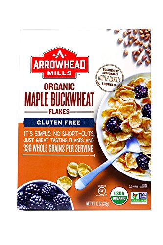 Arrowhead Mills Organic Maple Buckwheat Flakes, 10 Ounce Box