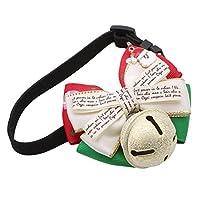 YUEHAO ボウタイ ペット用 クリスマス ネクタイ 小型犬用 バックル デコレーション カラフル 調節可能 通気性 おしゃれ 弾力性 安全 耐久性 サンタクロースSサイズ