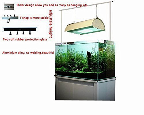 "Marine Color Aquarium Light Suspension System 12"" 16"" 24"" 30"" 36"" 40"" 42"" 47"" 50"" 60"" Tank Bracket Hanging Kit (12"")"