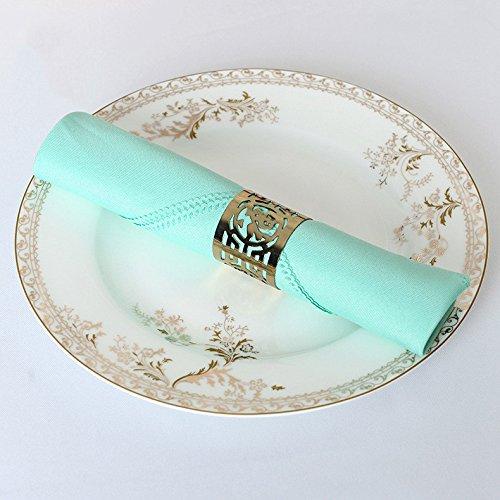 matte / restaurant serviette / blume / farbe / mat handtuch glas tuch / 48 * 48cm / 43 * 43 cm / 10,tiffany blau,48 * 48cm