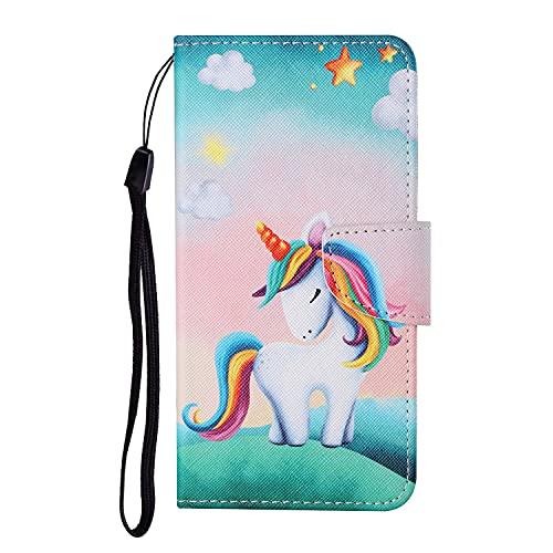VQWQ Custodia per iPhone 7 Plus / iPhone 8 Plus - Motivo Dipinto Paint Portafoglio Custodia in PU Pelle Caso Libro Antiurto Magnetica Flip Cover per iPhone 7 Plus / iPhone 8 Plus [Animal] -Unicorno