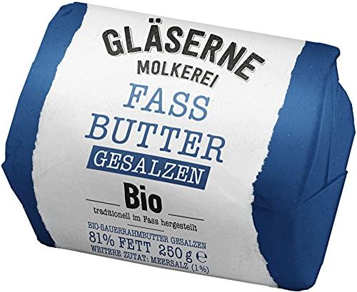 Gläserne Molkerei Bio Bio-Fassbutter gesalzen, Sauerrahm (6 x 250 gr)