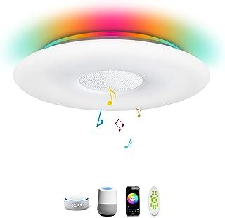 Lámpara de techo inteligente compatible con Alexa Google Home, moderna de 12 pulgadas 24 W LED de iluminación de techo, lu...