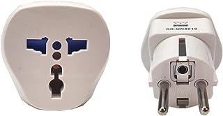 Garsaco Universal Adaptador de Enchufe UK/US/AU/Asia a UE,
