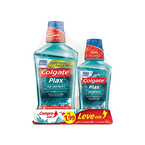 Enxaguante Bucal Colgate Plax Ice Infinity 750Ml Promo Leve 750Ml Pague 500Ml