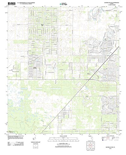 Florida Maps - 2012 Dunnellon, FL - USGS Historical Topographic Wall Art - 24in x 30in
