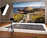 Fondos de vinilo de Londres de 50 x 30 cm, fotógrafos Cape Schanck Boardwalk corre hacia la formación de roca marina Victora Australia Fondo para decoración del hogar al aire libre Tema Shoot Props