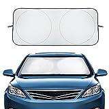 Audew Auto Frontscheibenabdeckung sommer Sonnenschutz Frontscheibe Windschutzscheibe Schutz für Armaturen ungifte Cordura Material Schutz für Armaturen