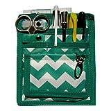 6 Piece Protective Lab Coat Pocket Organizer Kit has Popular Green & White...