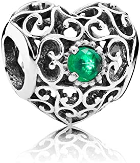 Signature Heart Birthstone Charm with Accent 791784