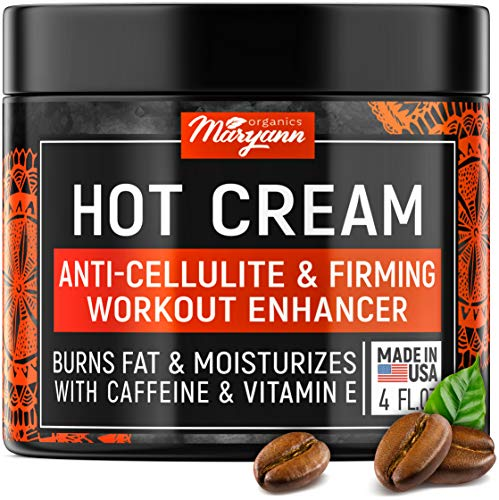 Anti Cellulite Hot Cream - Fat Burner Cream for Women & Men - Made in USA - Slimming Cream with Caffeine & L-Carnitine - Fat Burning Cream for Belly for Extreme Weight Loss - Cellulite Remover