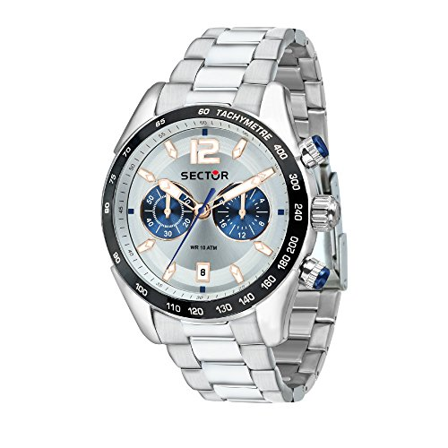 SECTOR Herren Chronograph Quarz Uhr mit Edelstahl Armband R3273794008