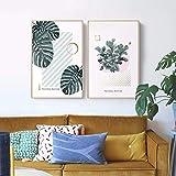 Fascinante Boconcept Canvas Art Print y Poster Wall Art Painting para la Sala de Estar Decoración Fresh Plant Wall Decor 50 * 70cm Sin Marco