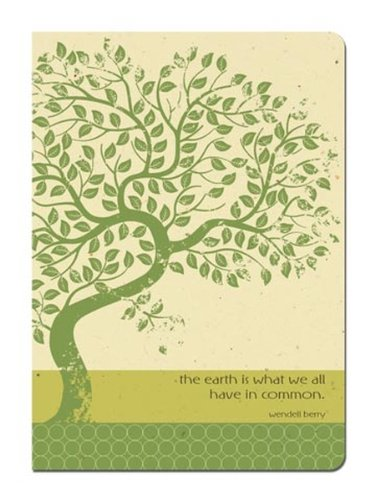 Tree-Free Greetings Journal, 160 Ruled Pages, Recycled, 5.5 x 7.5 Inches, Earth Tree, Multi Color (72100)