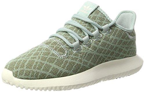 adidas Damen Tubular Shadow Sneakers, Grün (Tactile Green/Tactile Green/Chalk White), 37 1/3 EU