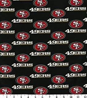 Country Snuggles 49ers Fabric by The Yard (Fat Quarter)