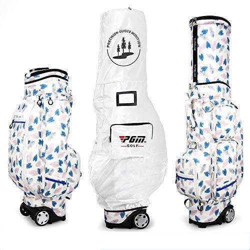 Mhwlai Señoras Bolsa de Golf, de Bolsas de Aire de impresión polea Impermeable Flexible de Alta Capacidad airbag retráctil Bolsa de polea de la Correa,B