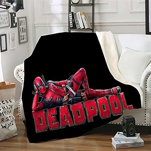 Spider-Man Kuscheldecke 150 x 200 cm,3D-Digitaldruck Spider-Man Muster Decke,Feecedecke aus Flanell,Weich & Bequem, Decke für Bett, Sofa, Reisen(Spider-Man-h,150 x 200 cm)